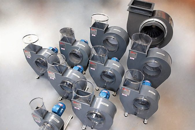 E-Series and G-Series, centrifugal plastic fan,