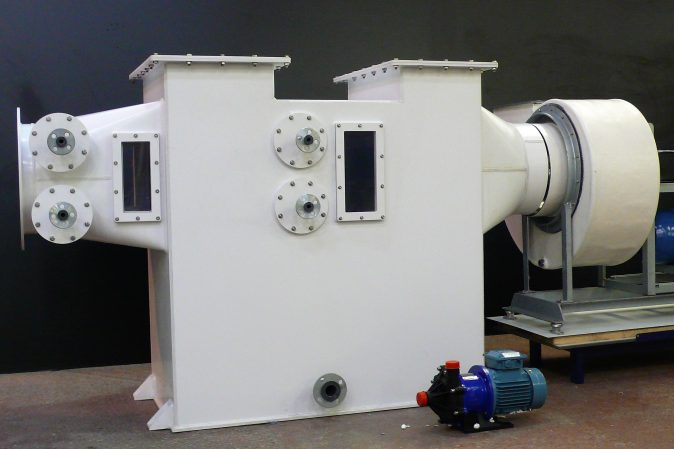 Bespoke S-Limits  fume scrubber for a chromic applicationPacked bed fume scrubber