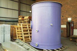fume scrubber, tower, section, GRP, resin rich flood coat